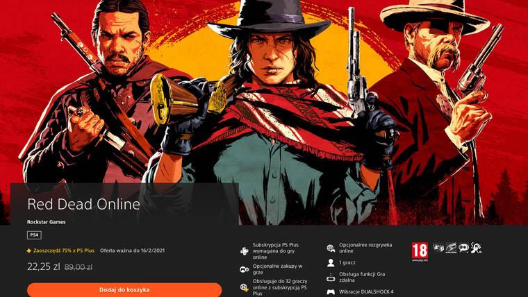 Red Dead Online jako osobna gra