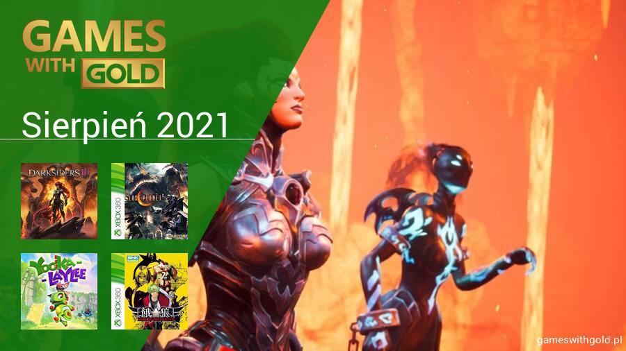 Sierpień 2021 - darmowe gry w Games With Gold